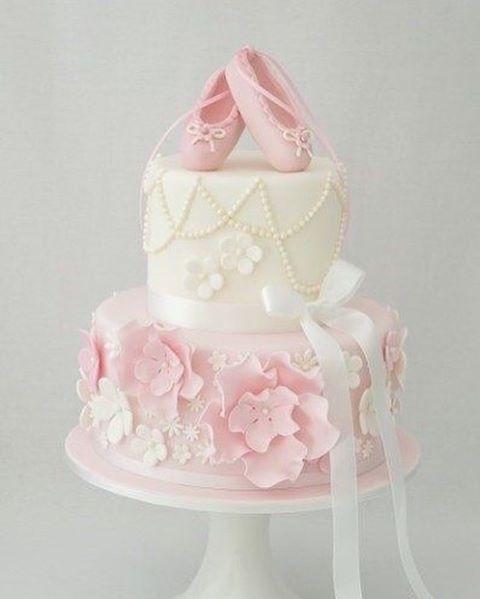 Que lindo este bolo para Festa Bailarina. Imagem Pinterest. Foto reprodução #encontrandoideias #blogencontrandoideias #fabiolateles