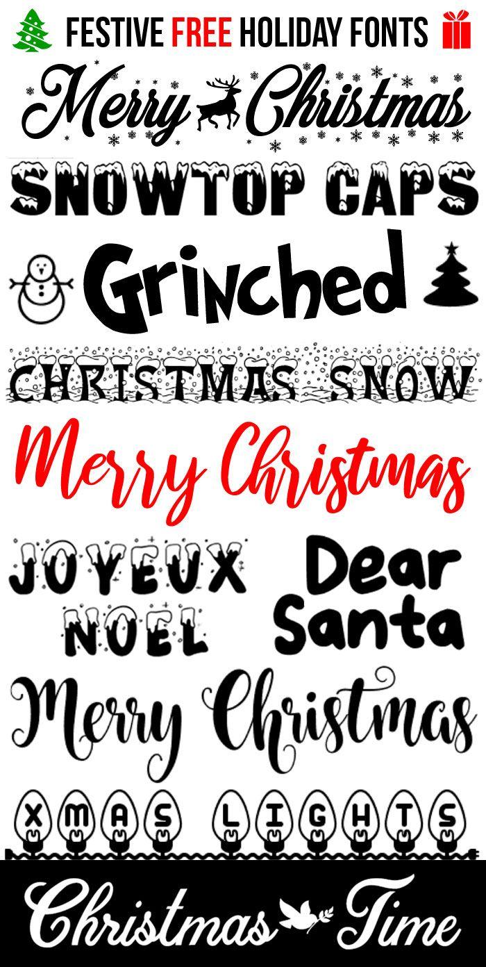 10 Free Festive Christmas Fonts Holiday Fonts Christmas Fonts Free Christmas Fonts