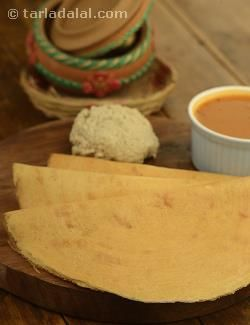 No, this dosa doesn't look like a cup. It is called the crispy cup dosa, because one cup each of every ingredient is used—also making it easy to remember and repeat. A thoughtful combination of fermented dal paste and besan enables you to make this dosa thin, crispy and really golden!