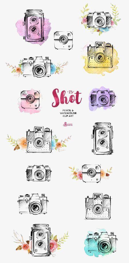 Acuarela pintada a mano de la cámara, Camara De Coleccion, Cartoon Camera, Dibujo De Camara Imagen PNG