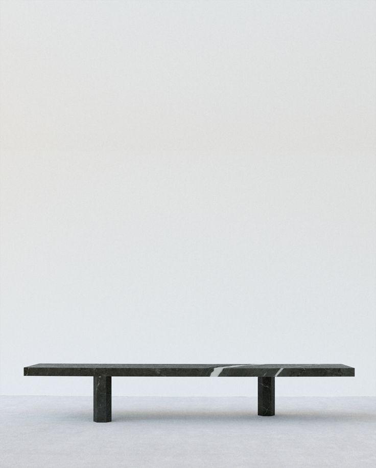 Jon W bendict. saint laurent marble marble bench. 2008