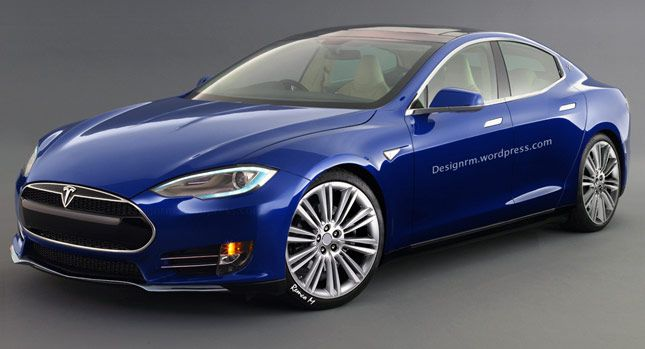 Tesla's Affordable 2016 Model E Compact Executive Saloon Rendered - Carscoops