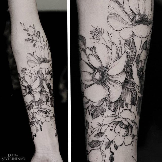 Unique Flower Tattoos: 466 Best Images About Unique Tattoo Ideas For Women On