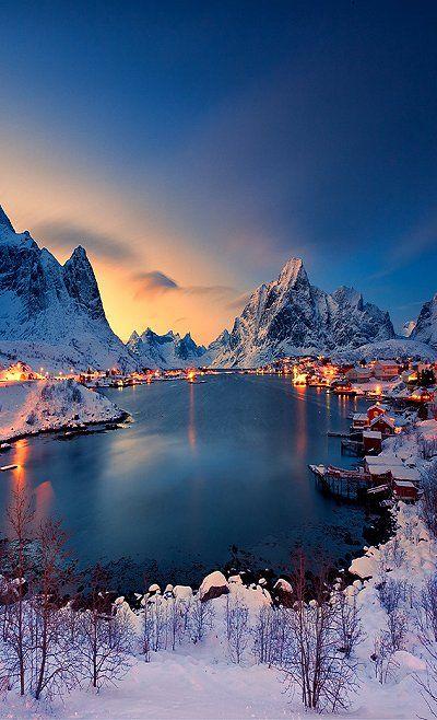 """Last-Light"".. Reine, Norway (by Christian Bothner)"