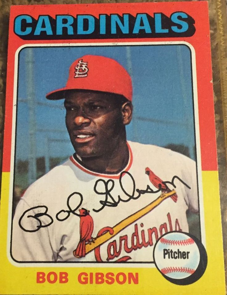 1975 Topps Bob Gibson St Louis Cardinals #150 Baseball Card #StLouisCardinals