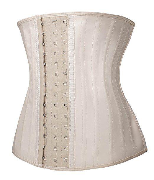 43b2ccfceda YIANNA Women s Underbust Latex Sport Girdle Waist Trainer Corset Hourglass  Body Shaper at Amazon Women s Clothing store