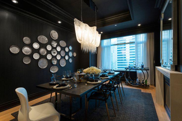 Trump Torontou0027s All Black Penthouse Dining Room, Designed By Emy Hamamy Of  Hamamy Design.