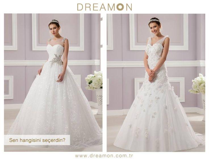 """Dreamon'un birbirinden özel modellerinden """"Sen Hangisini Seçerdin?""""   www.dreamon.com.tr  #gelinlik #gelinlikmodelleri #dreamongelinlik #dreamon #gelinlikler #geceelbisesi #abiyeelbise #azure #carmine"""