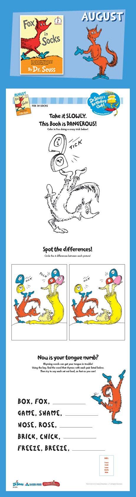 Ausgezeichnet Dr Seuss Farbseiten Ideen - Malvorlagen Online ...
