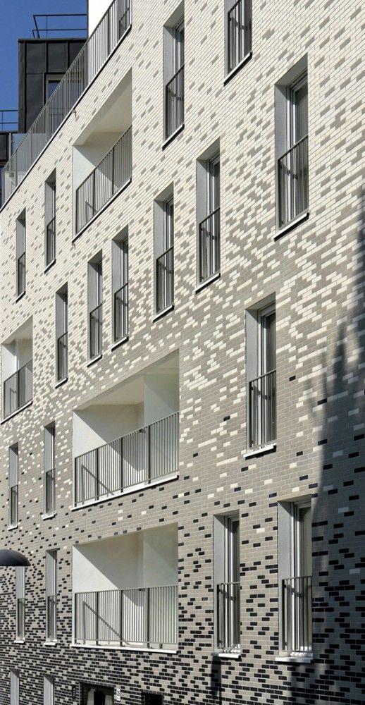gradient brick facade facade pinterest design apartments and facades. Black Bedroom Furniture Sets. Home Design Ideas