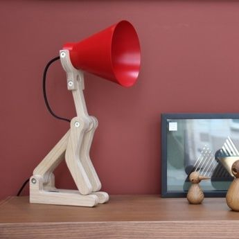 Lampe a poser waaf rouge h55cm structures normal