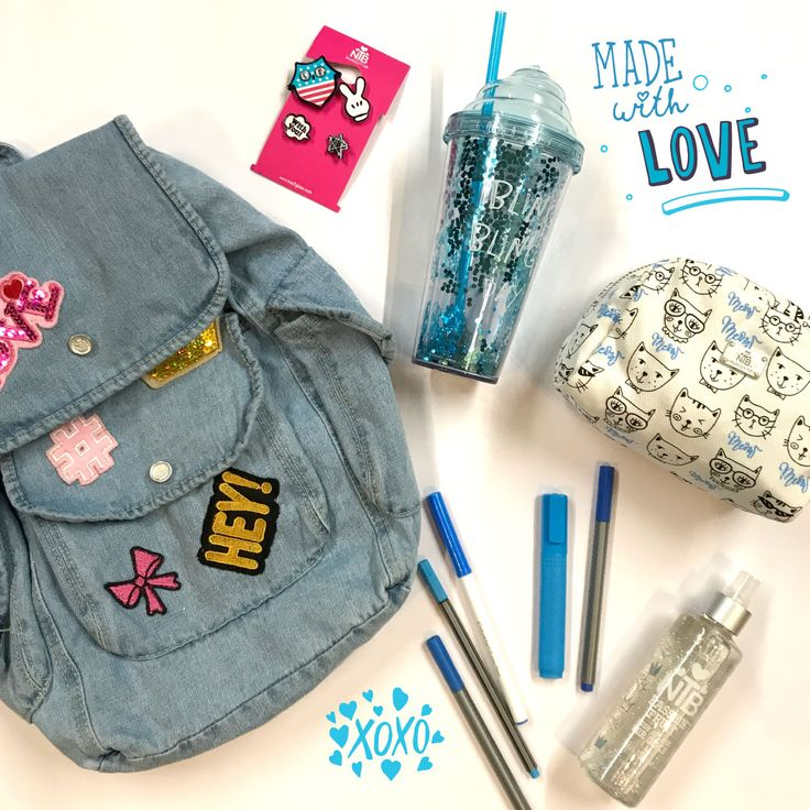 Made With Love! #nautyblue #ntbbeautyandfun #backpacks #coldcup #madewithlove #backtoschool