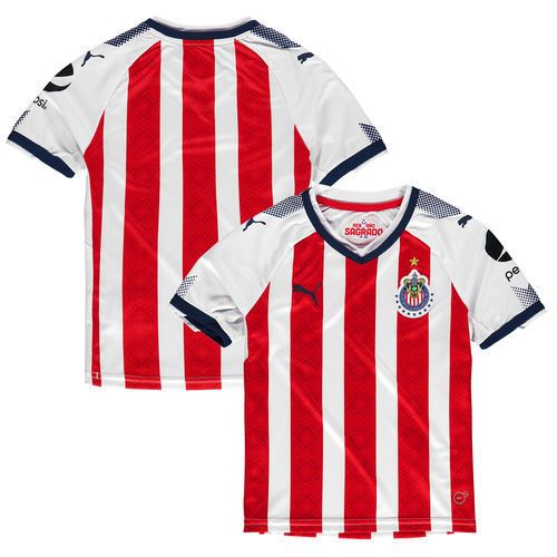 Chivas Puma Youth 2017 Home Replica Jersey  Red/Navy  International Clubs