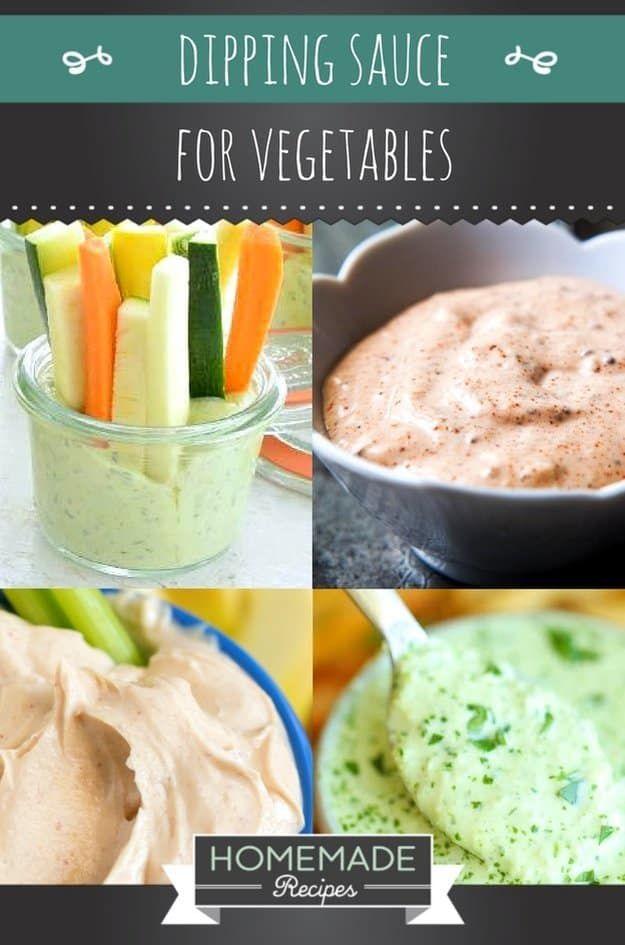 Easy Dipping Sauce For Vegetables   https://homemaderecipes.com/dipping-sauce-vegetables-recipes/