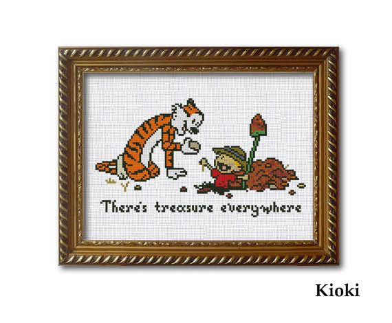 Cross Stitch Pattern Treasure Everywhere Calvin and by TinyNeedle