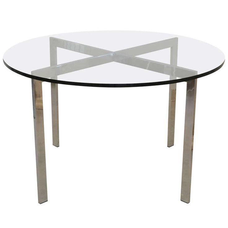 Chrome and Glass Table | From a unique collection of antique and modern game tables at https://www.1stdibs.com/furniture/tables/game-tables/