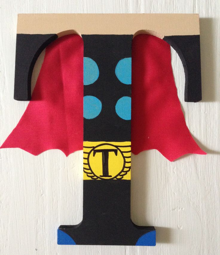 Thor Superhero Wooden Letters, Wall Decor