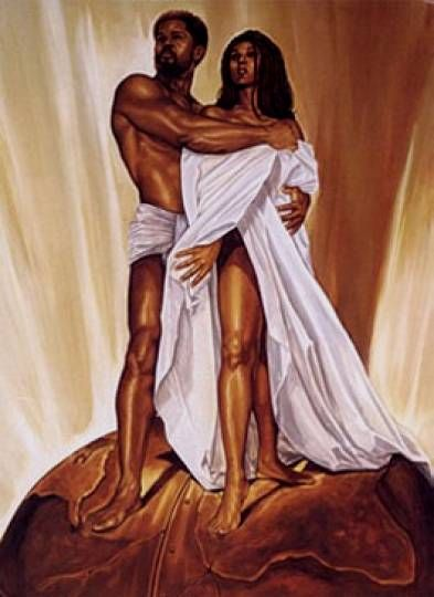 Never knew there was a third painting, this would complete my series ~ Black Love art | black love 3 by WAK