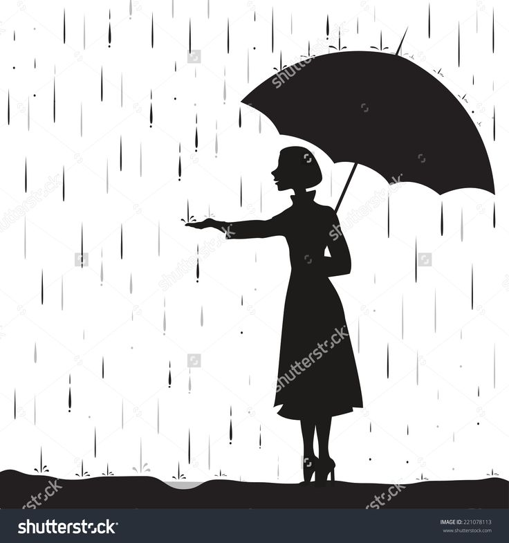 girl silhouette with umbrella - Google Search ...