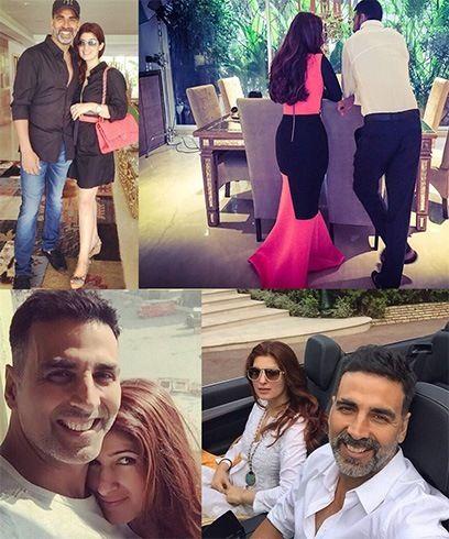 Akshay Kumar and Twinkle Khanna   #TwinkleKhanna #Bollywood #Celebrity