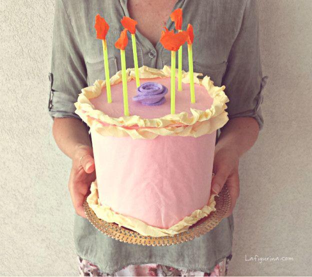 torta di carta con sorpresa
