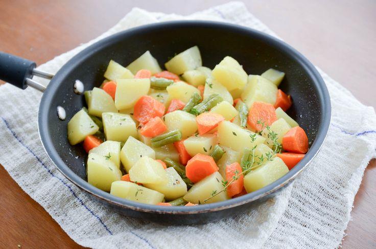 receita de legumes na manteiga com tomilho