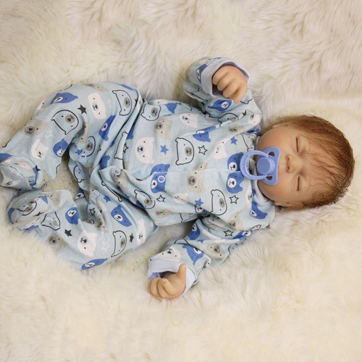 50cm silicone reborn baby Sleeping Boy Dolls Toy For Sale Cheap Vinyl Newborn Alive Babies Dolls Like Real Birthday Gift Present #Affiliate