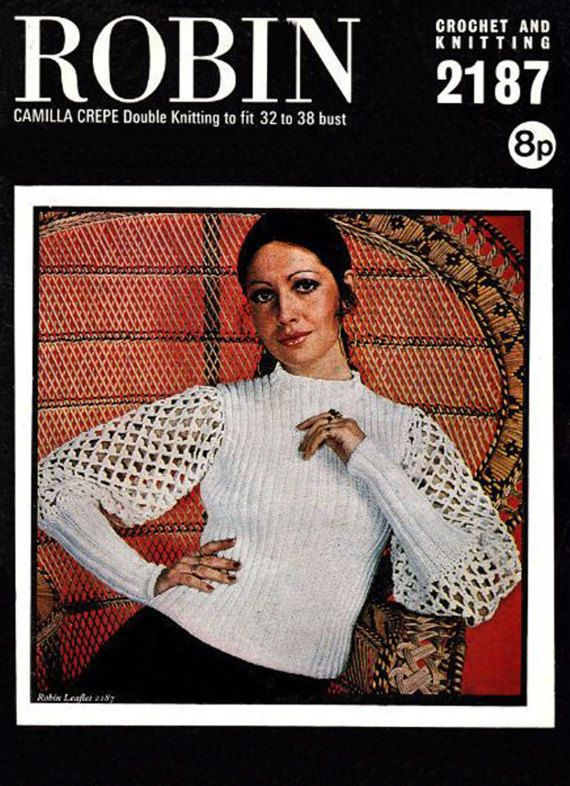 PDF Vintage Womens Ladies Crochet Pattern Elegant Lacy Blouse
