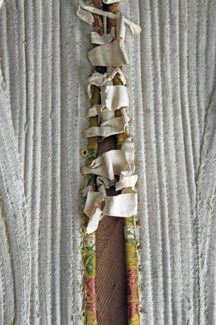 1740 scotland - Brocade Stays 1740 Original Ribbons 18th Century Corset Costume