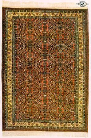 Kayseri Taban carpet with cotton base and wool knots.