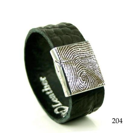 Leren armband met vingerafdruk 0301-201