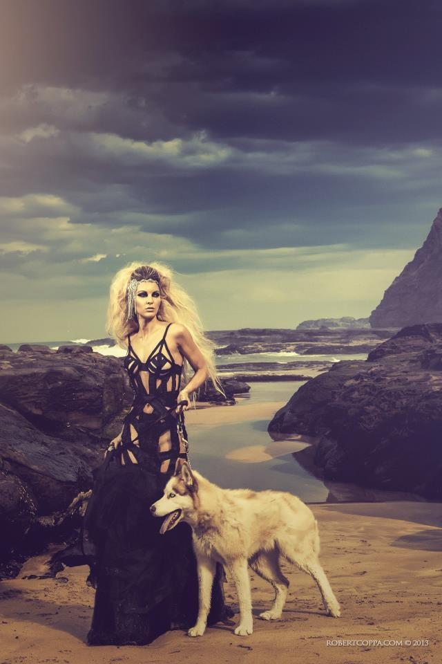 "From ""La Strega Del Mare"" (The Sea Witch) series Photography & Editing |- Robert Coppa © 2013. Model |- Sarah Joseph Nunn Dress |- Sarah Joseph Couture"