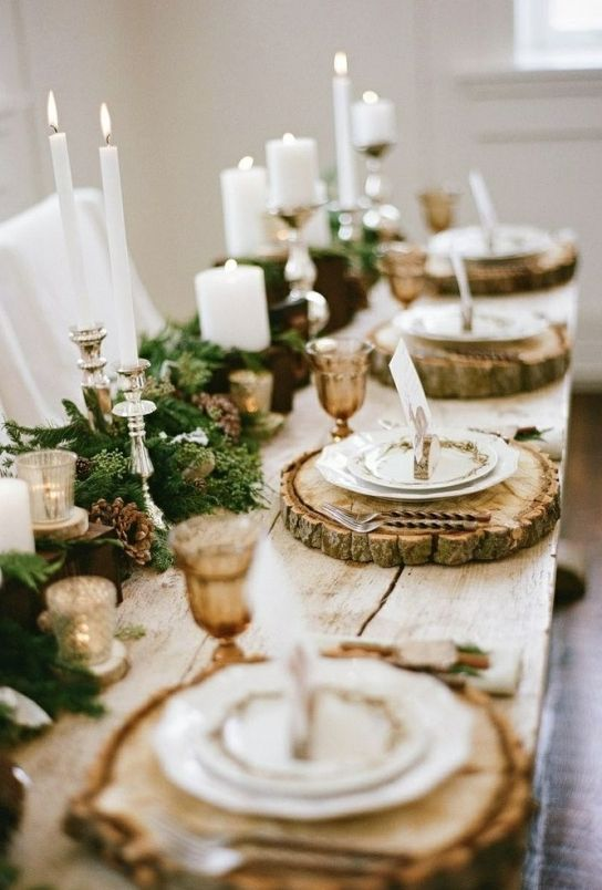 Unique rustic wedding reception centerpiece for fall; Featured Photographer: Jacque Lynn Photography