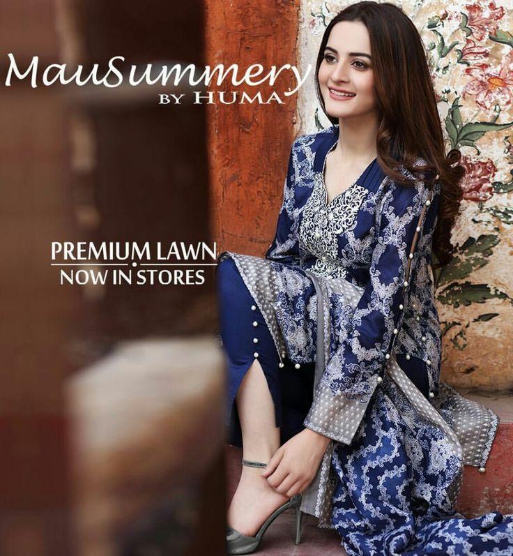 MauSummery by Huma Spring Lawn Collection 2017! #Beautiful #DeepBlue #SpringSummerLawn #MauSummeryByHuma #SummerCasual #SummerEidCollection #EidCollection17 #AimanKhan #PakistaniFashion #PakistaniCelebrities ✨