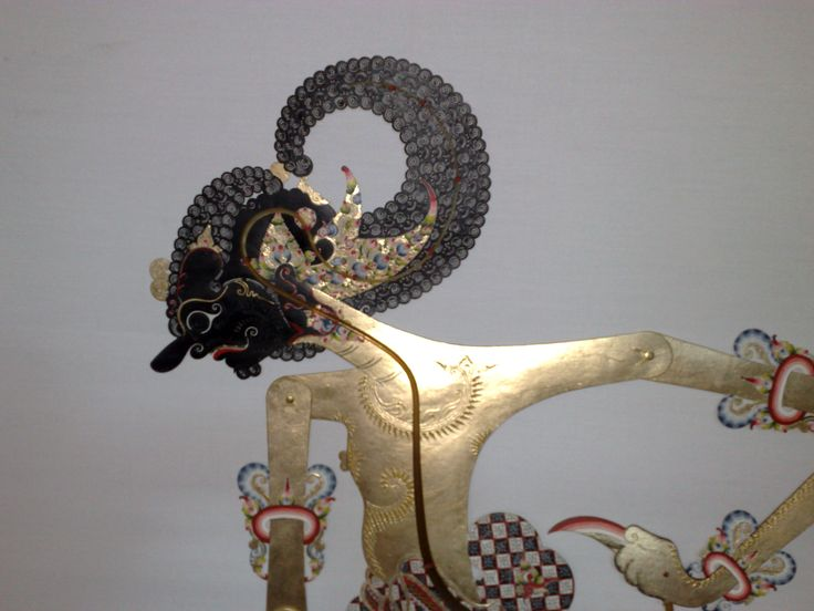 Shadow Puppet of Java: the character of Bhima, the second of the five sons of Pandhu. The story was adapted from India's Mahabharata