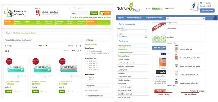 Notre partenaire Awevo (http://www.awevo.com), agence web basée au Luxembourg et en Lorraine, a intégré le moteur de searchandising Antidot AFS@Store pour Magento chez Pharmacie de Steinfort (http://www.pharmaciedesteinfort.com) et Nutrilife Shop (http://www.nutrilifeshop.com)