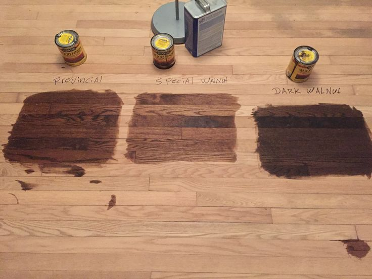 Stain options on red oak hardwood floors - going with provincial by minwax.  Nice medium brown.