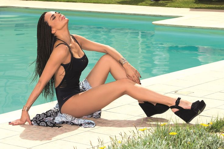 The stunning actress Nikoletta Karra at Civitel Attik #swimming #pool as featured in YOU Magazine-Greece.  #AttikAthens