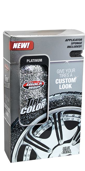 O M G! Glitter for your tires haha! Must have! Black Magic Tire Color | Black Magic Car Care Products