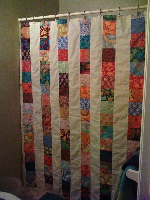 *not A Quilt, Kaffe Fassett Shower Curtain, Diana Taylor 2010