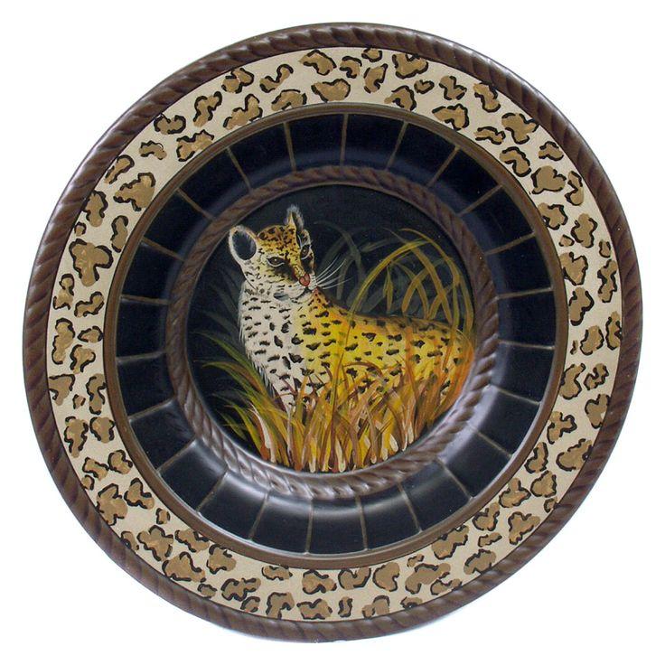 AA Importing Cheetah Decorative Tray - 15479