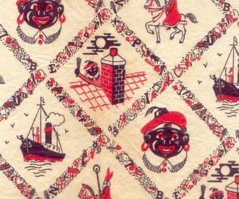 Oud Sinterklaas inpakpapier