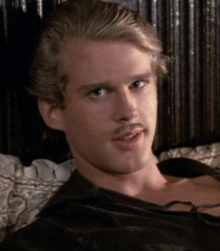 "Cary Elwes ""there is a shortage of perfect breasts in this world, it would be a pity to damage yours."""