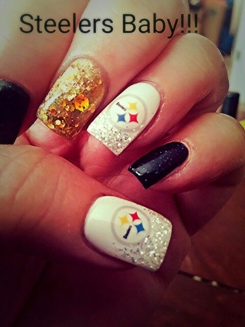 Best 25 sports nail art ideas on pinterest sport nails dallas nails by taryn pittsburgh steeler nails prinsesfo Choice Image