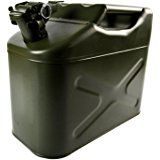 Quality Fuel Jerry Can Green Metal 10 Litre Petrol Diesel Oil