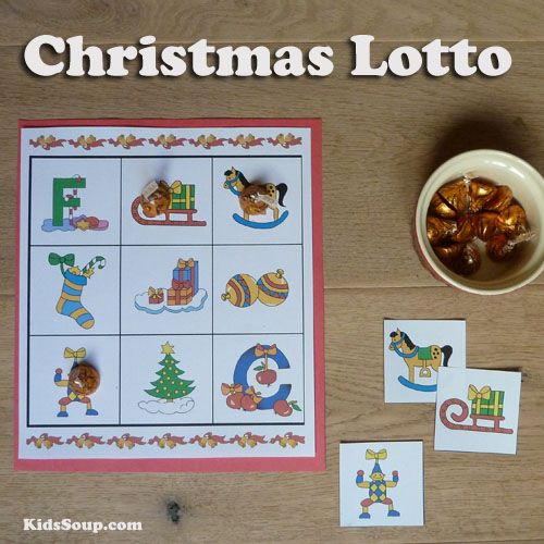 Christmas Lotto and other Games -Gather your kids around the table and play a game together while waiting for Santa. Christmas Lotto Game, Christmas Matching game, Christmas Memory Game with free printables.