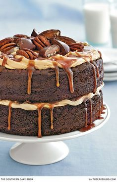 Chocolate Turtle Cake from @thecakeblog