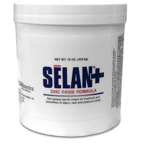 Selan+ Zinc oxide Barrier Cream, 16oz jar