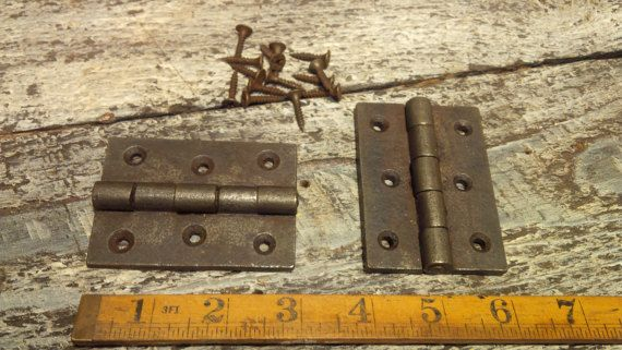 3 Cast Iron Square Butt Hinge 1 x Hinge by SpearheadCollection