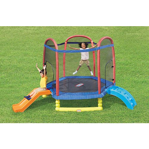 """Little Tikes 7 Ft. Climb N Slide Trampoline with Enclosure - Little Tikes - Toys """"R"""" Us"""